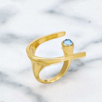 Gold Cocktail Ring Lunaria