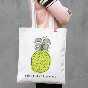 Personalised 'Pineapple' Tote Bag