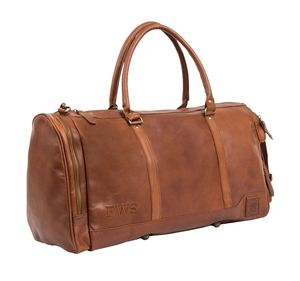 Personalised Leather Columbus Deep Weekender Holdall - womens