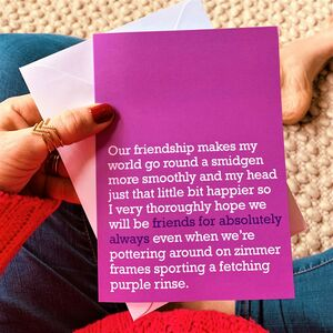 Friends For Absolutely Always : Card For Forever Friend