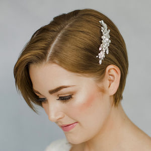Small Elegant Crystal Wedding Hair Comb Elsa - combs & hair pins