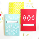 Bright Patterned Notebook Set Of Three Notebooks