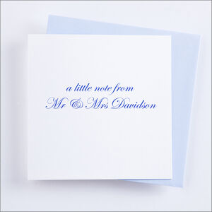 Single Or Pack Of Personalised 'Little Note' Cards D2
