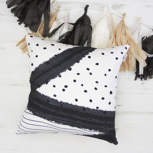 Bold Monochrome Cushion - summer sale