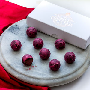 Red Wine Truffle Gift Box - chocolates & confectionery