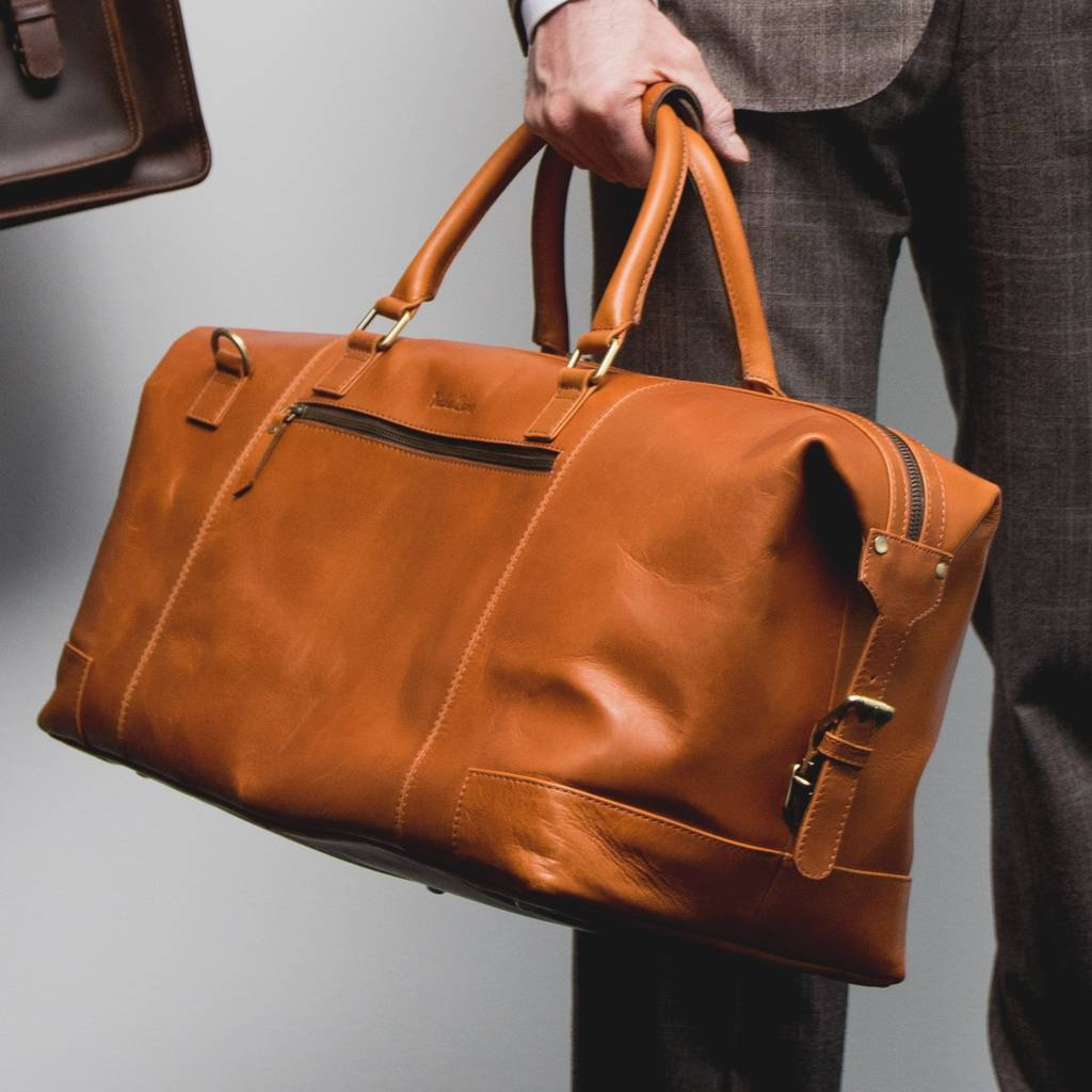 46f2fce054 personalised leather holdall weekend bag   aviator   by niche lane ...