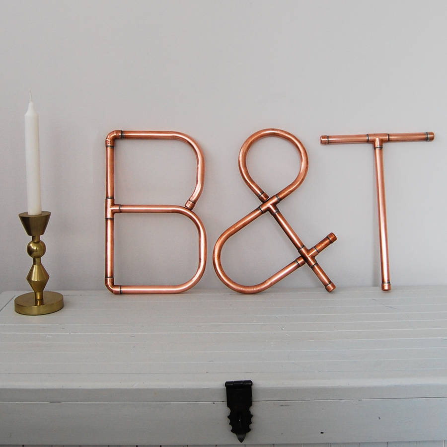 Copper Decorative Letters And Symbols Wall Art By Copper Hall