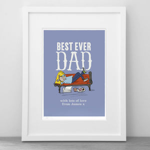 'Best Ever Dad', Father's Day Print