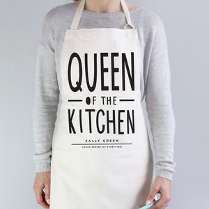 Queen Of The Kitchen Apron - kitchen