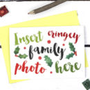 Funny Family Joke Christmas Card