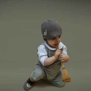 Handmade Bamboo Hat And Booties Set - clothing