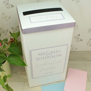 Personalised Mr And Mrs Wedding Post Box