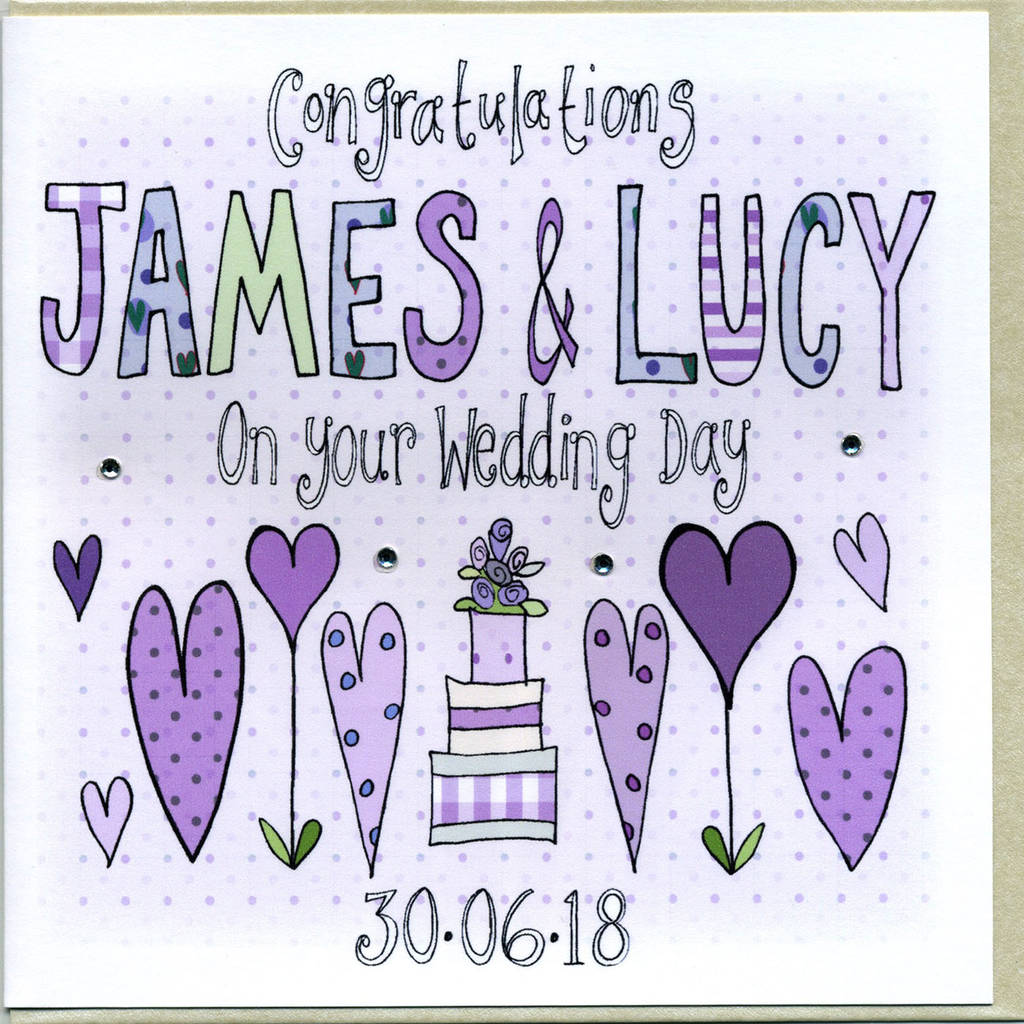Personalised Wedding Congratulations Card By Claire Sowden Design