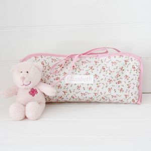 Oilcloth Personalised Changing Mat