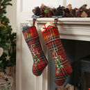 Personalised Tartan Mistletoe Christmas Stocking
