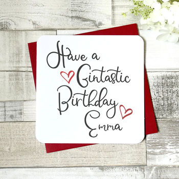 Have A Gintastic Birthday Personalised Card