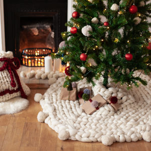 Giant Knit Christmas Tree Skirt