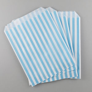 Stripy Party Bags Packs Of 10 Various Colours