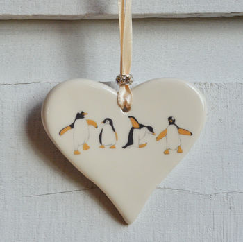 Penguin Ceramic Heart