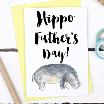 Hippo Father's Day, Funny Father's Day Card