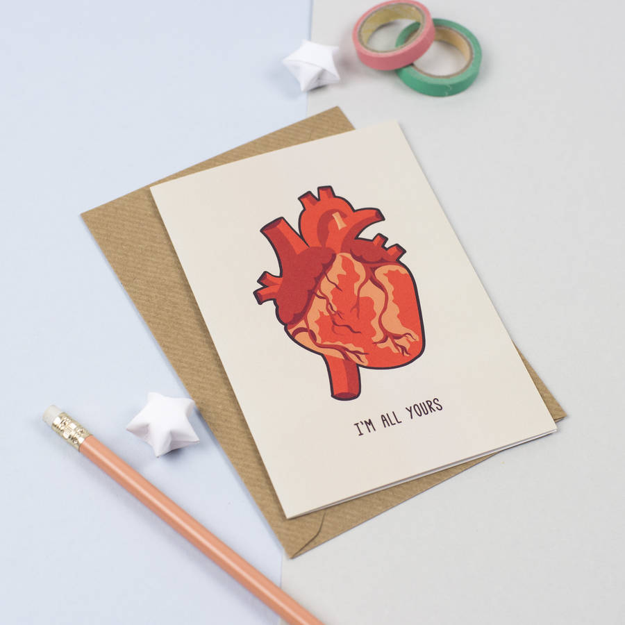 Anatomical Heart Card By The Little Matters Notonthehighstreet