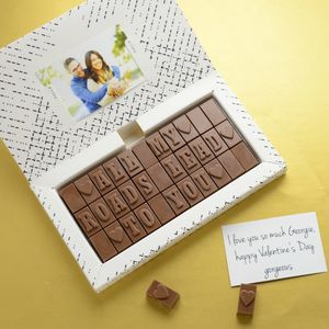 Romantic Chocolate Gift For Him - novelty chocolates