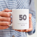 50th Birthday Mug With Personalised Name