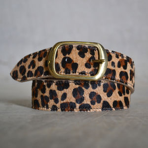 Cheetah Print Belt - womens