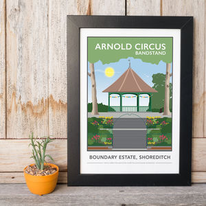 Arnold Circus Bandstand, Shoreditch Print