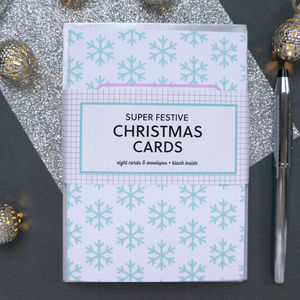 Pack Of Modern Snowflake Christmas Cards - what's new
