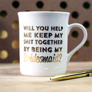 Will You Be My Bridesmaid Gold Foil Mug