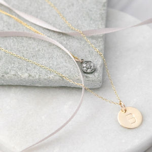Personalised Gold And Pave Diamond Layered Necklace - necklaces & pendants