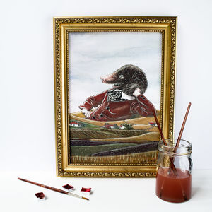 Countryside Print Featuring Kenneth The Mole - new in