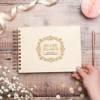 Personalised Elegant Wedding Guest Book