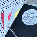 Personalised Mum's List Of Things To Do Notebook