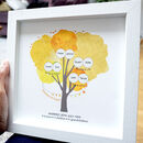 Framed 50th Anniversary Gift With Family Tree