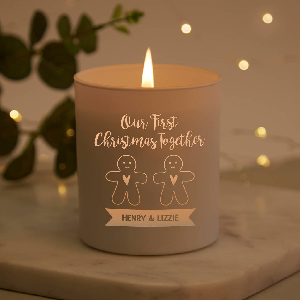 First Christmas Together Personalised Candle Gift