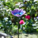 Glass Anemone Flower Stake Bird Feeder