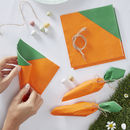 Easter Party Carrot Shaped Paper Napkins