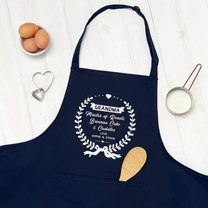 Personalised Best Grandma Apron - new lines added