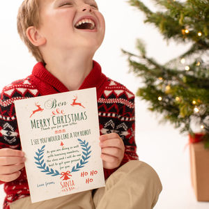 Personalised Letter From Santa - for santa