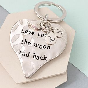 Love You To The Moon And Back Keyring - valentine's gifts for him