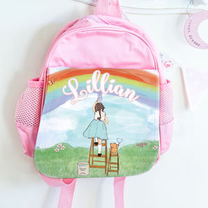 Personalised School Bag 'Rainbows'