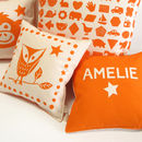 Personalised Baby Owl Print Cushion