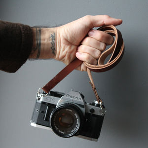 Leather Camera Strap Slim - gifts for him