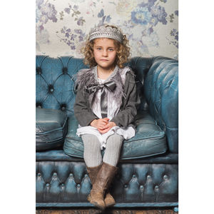 Silvie Silver Embellished Children's Crown