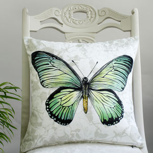 Swallowtail Butterfly Print Cushion