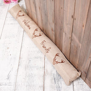 Welcome Friends Country Stag Draught Excluder - decorative accessories