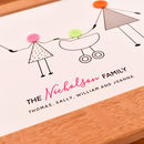 family surname with parents and children print