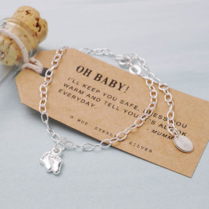 Little Feet Silver Charm Bracelet